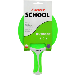 Rakietka do ping ponga Point School Outdoor zielona