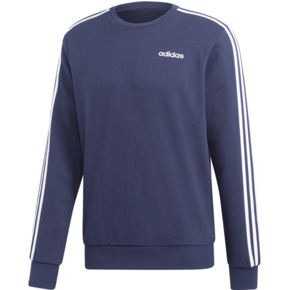 Bluza męska adidas Essentials 3 Stripes Crewneck granatowa FT DU0484